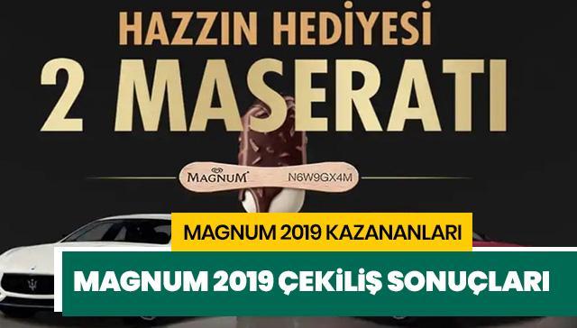 Magnum Maserati çekiliş sonuçları: Magnum çekilişi kim kazandı? Magnum 2019 kazanan isimler burada