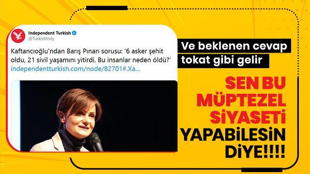 Nedim Şener'den Canan Kaftancıoğlu'na tokat gibi 'Barış Pınarı Harekatı' yanıtı