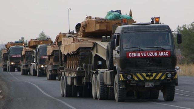 Şanlıurfa'da Suriye sınırına askeri sevkiyat
