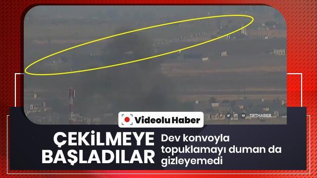 PKK/YPG'li teröristlerin çekilmesi böyle görüntülendi