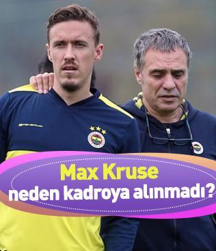 Max Kruse neden Denizlispor maçının kadrosuna alınmadı?