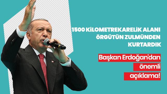 """""""9 günde 1500 kilometrekarelik alanı örgütün zulmünden kurtardık"""""""