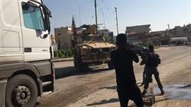 PKK/YPG yandaşları ABD askerini taşladı