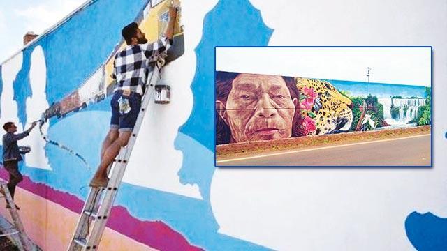 Sınırdaki duvara rekor çizim