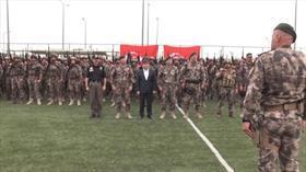 Özel harekat polisleri Barış Pınarı Harekatı bölgesine uğurlandı