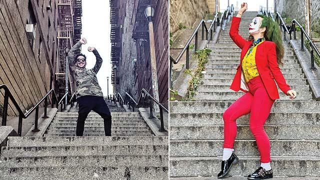 Joker merdivenlerine fotoğrafçı akını