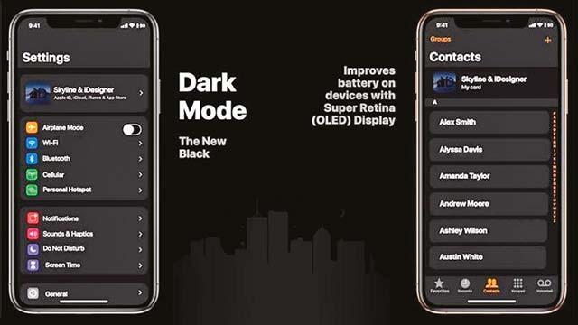 Karanlık mod batarya dostu
