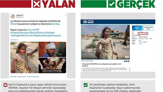 """İran televizyonundan yalan haber: """"YPG/PKK'nın tuzakladığı mayını"""" Barış Pınarı Harekatı aleyhine çarpıttı"""
