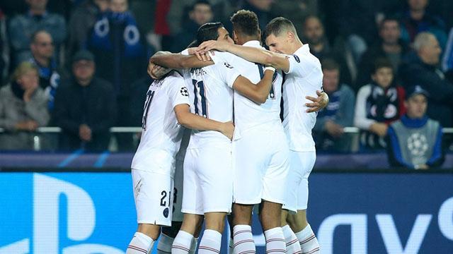 Paris Saint-Germain, Club Brugge'e gol oldu yağdı