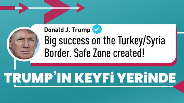 Trump'tan son dakika Suriye açıklaması! Keyfi yerinde...