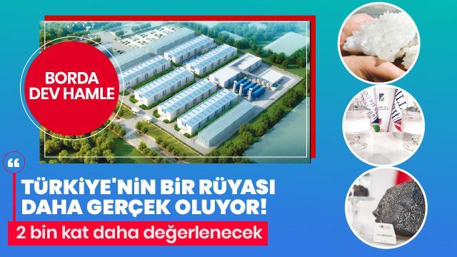 Bakan Dönmez açıkladı! Türkiye'den önemli bor hamlesi