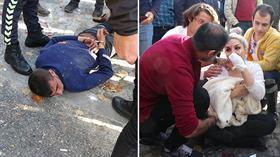 Beyoğlu'nda vize merkezi önünde bekleyen kadına demir sopayla saldırdı
