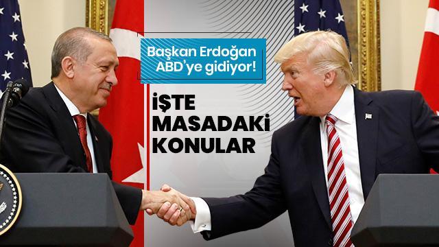 Başkan Erdoğan ABD'ye gidiyor! İşte masadaki konular
