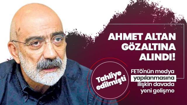 FETÖ'cü Ahmet Altan gözaltına alındı