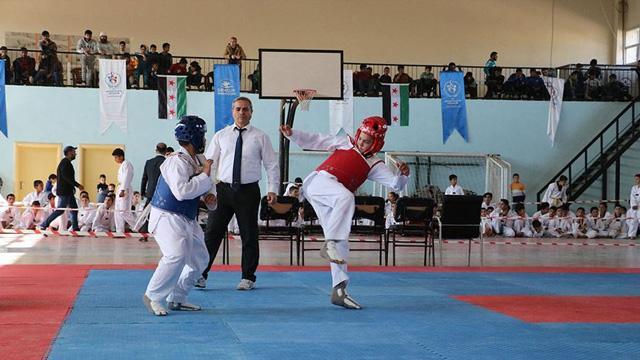 Afrin'de Barış Pınarı Tekvando Turnuvası düzenlendi
