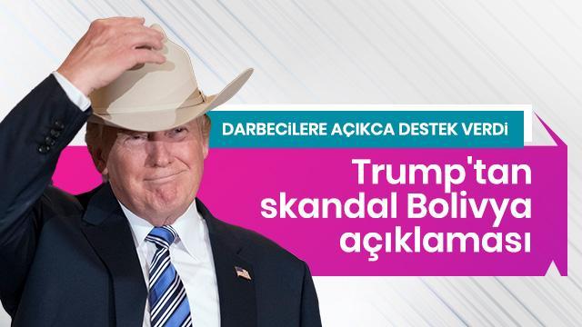 Donald Trump'tan Morales açıklaması