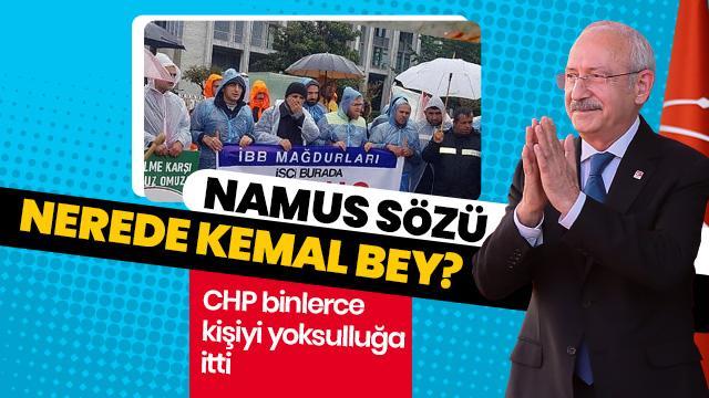 CHP binlerce kişiyi yoksulluğa itti! Kılıçdaroğlu görmezden geldi...