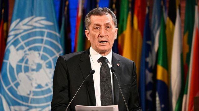 Milli Eğitim Bakanı Selçuk, Türkiye adına 'Ulusal Beyan'da bulundu