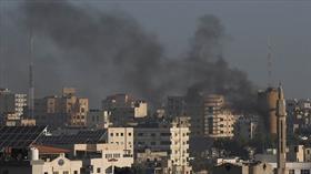 İşgalci İsrail'in Gazze'ye hava saldırılarında ölü sayısı 12'ye yükseldi