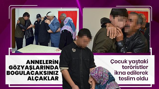 Çocuk yaşta PKK'ya katılan iki terörist böyle teslim oldu