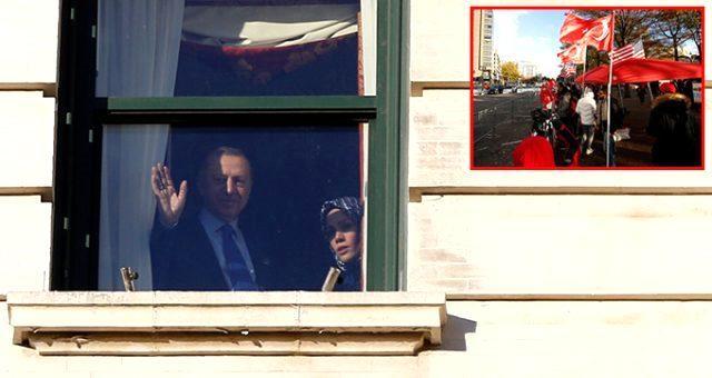 Başkan Erdoğan ABD'de böyle karşılandı
