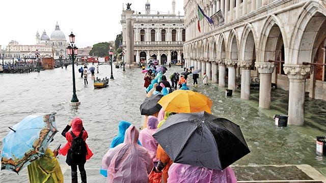 Venedik sular altında