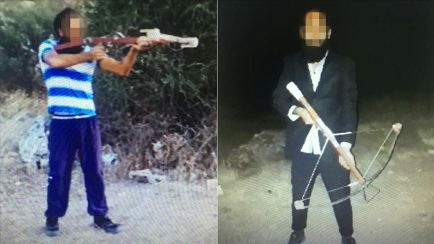 DEAŞ'ın hücre evinden oklarına patlayıcı yerleştirilen 'arbalet' silah çıktı