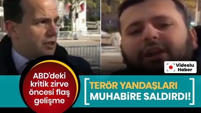 Terör yandaşlarından canlı yayında TRT'ye çirkin saldırı