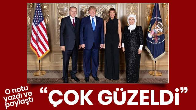 Trump, Başkan Erdoğan'ın ziyareti esnasındaki aile fotoğrafını paylaştı