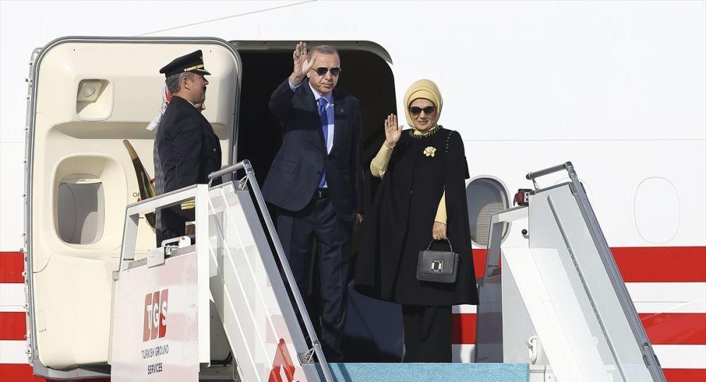 Başkan Erdoğan ve beraberindeki heyet Türkiye'ye hareket etti