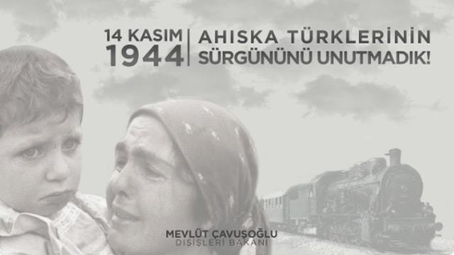 Bakan Çavuşoğlu, Ahıska Türklerini unutmadı