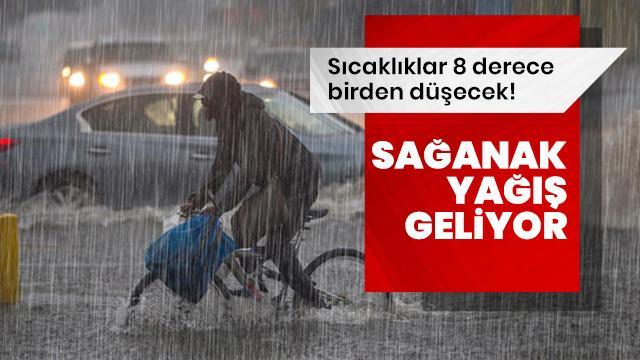 Meteoroloji'den dikkat çeken uyarı: Sağanak yağış geliyor!
