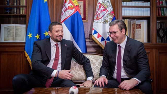 Hidayet Türkoğlu, Sırbistan Cumhurbaşkanı Vucic'i ziyaret etti