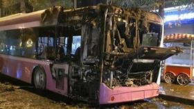 İstanbul'da park halindeki halk otobüsü yandı