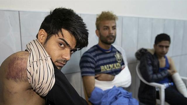 Yunan polisi tarafından darp edilen 3 göçmen tedavi edildi