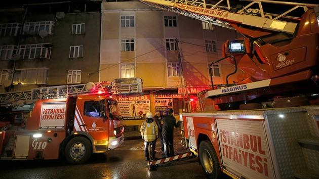 İstanbul'da ev yangını