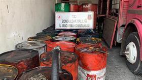 Zonguldak'ta 10 bin litre kaçak madeni yağ ele geçirildi