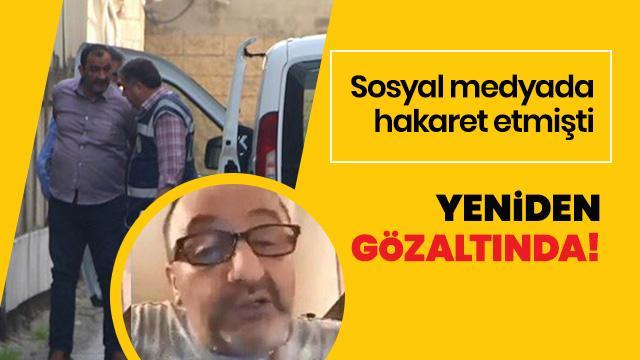 Kocaeli'de sosyal medyada hakaret eden zanlı yeniden gözaltında