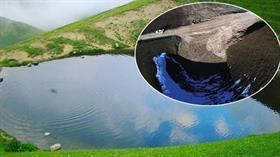 12 bin yıllık Dipsiz Göl'ün eski haline dönmesi için kar yağması bekleniyor