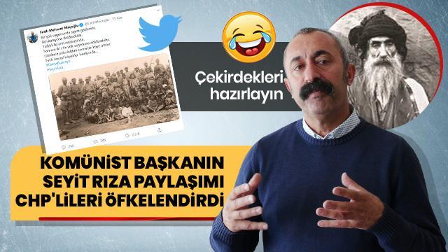 """Komünist"" Maçoğlu Seyit Rıza anmasına katılınca CHP'liler çılgına döndü"