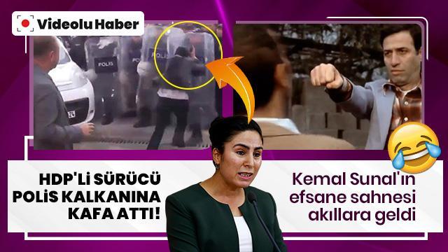 HDP'li Ayşe Sürücü polis kalkanına kafa attı