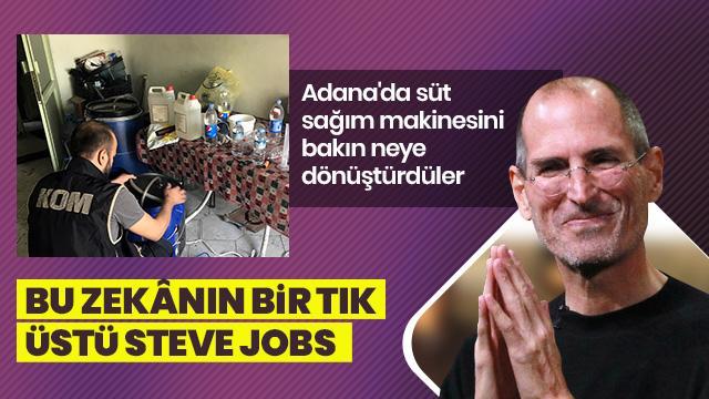 Pes! Adana'da süt sağım makinesiyle yapmışlar