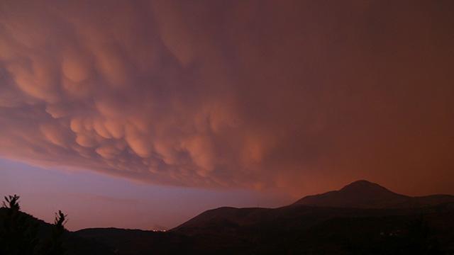 Ender görülen memeli bulutlar Hatay'da görüntülendi
