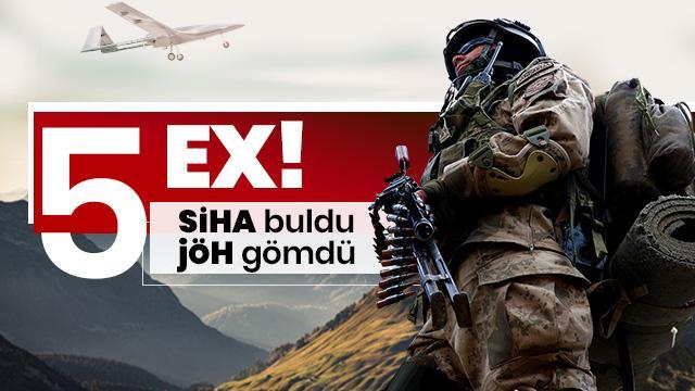 Irak'ın kuzeyinde 5 terörist SİHA'larla vuruldu