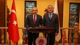 TBMM Başkanı Şentop'tan Milli Savunma Bakanı Akar'a ziyaret