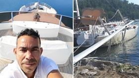 Teknede feci ölüm! 15 metre yükseklikten kayalıklara çakıldı...