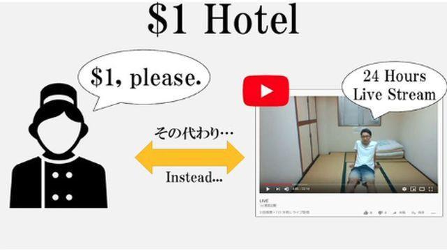 Japonya'nın en ucuz odalı otelinde kalmanın tek şartı var: Gecenizin YouTube'da canlı yayınlanması