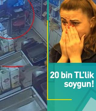 Bursa'da süpermarkette 20 bin liralık soygun!