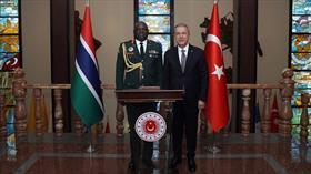 Bakan Akar, Gambiya Genelkurmay Başkanı Kinteh'i kabul etti