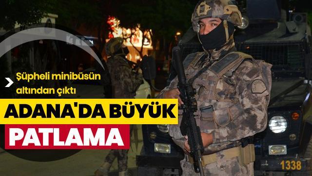 Adana'da eğlence mekanlarının bulunduğu caddede korkutan patlama